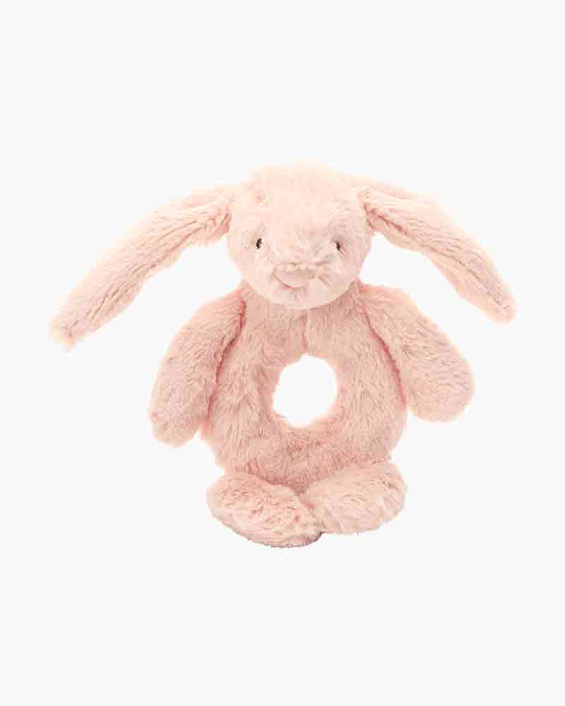 Bashful Bunny Ring Rattle-Toy - blush