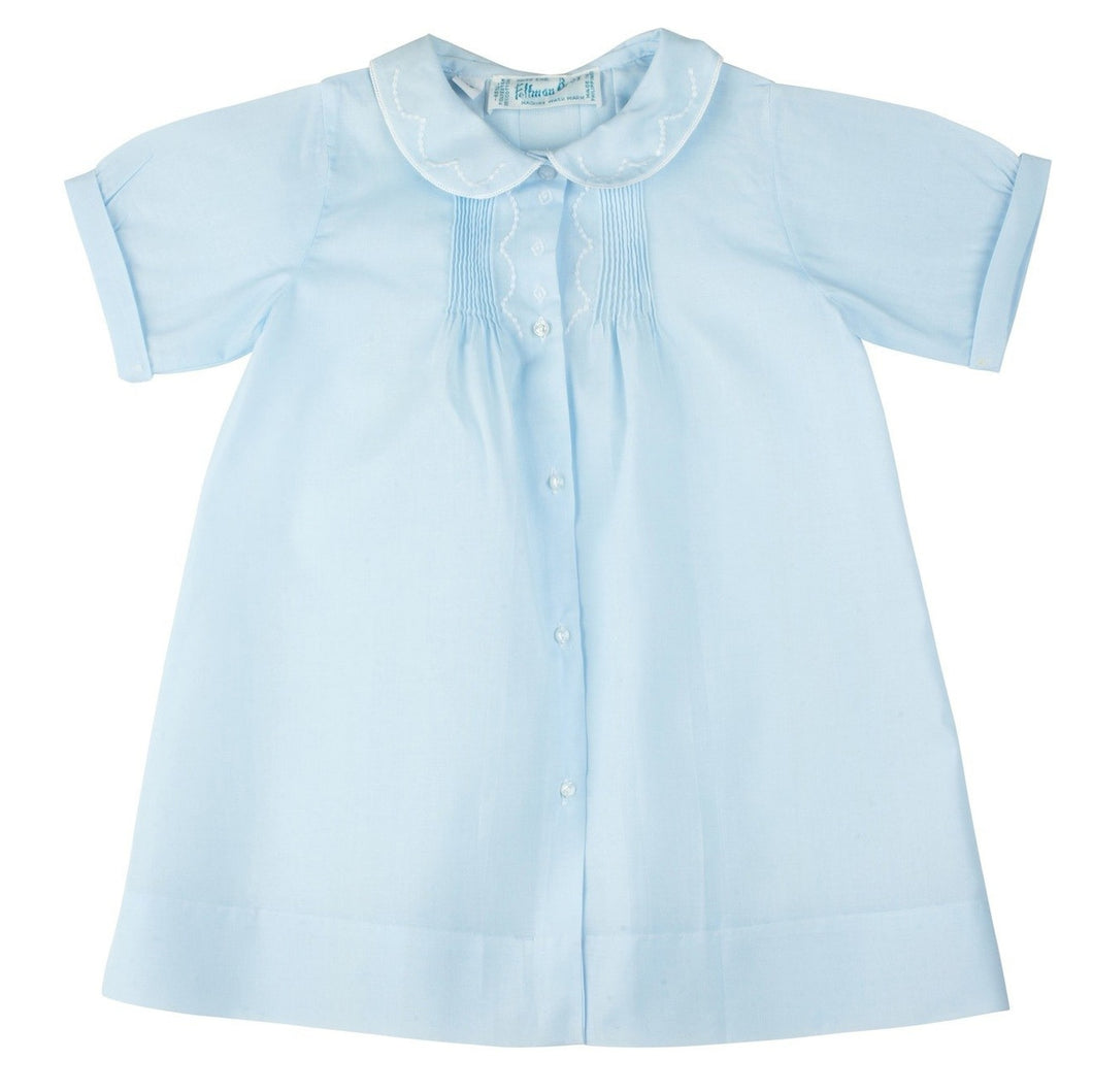 Boys Embroidered Collar Folded Daygown 74100