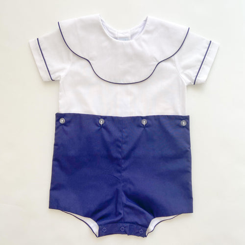 Blank Navy Boysuit 5029 - Toddler Boys
