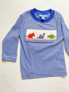 Dinosaur Smocked T-Shirt - 4-6 Boys