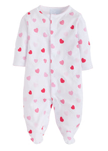 Girl Printed Footie Hearts
