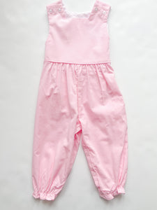 Girl Lt Pink Cord Romper - Infant