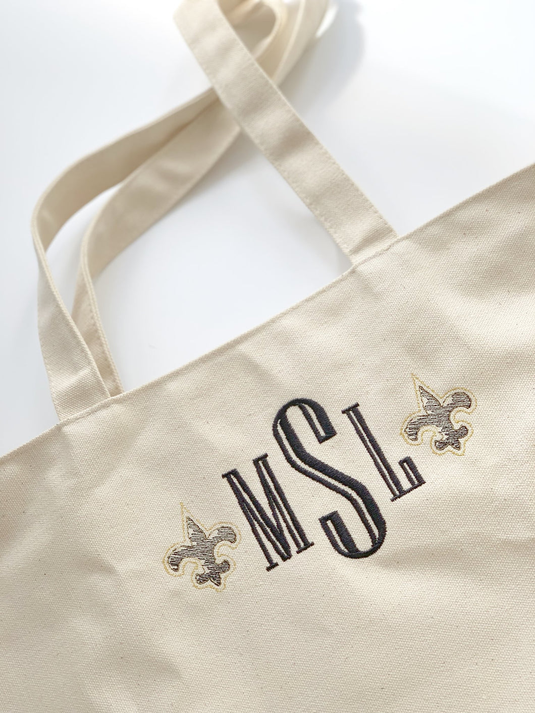 Embroidered Canvas Tote