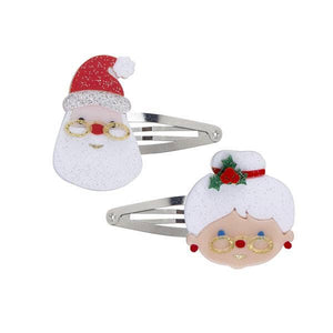 Santa Claus and Mrs. Claus Snap Clips
