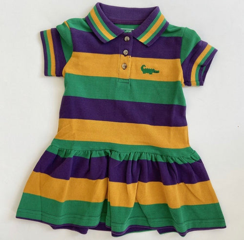 Mardi Gras Traditional Polo Dress Short Sleeve