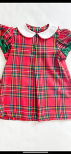 Float Dress Red Plaid - Infant
