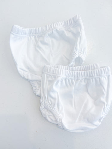 White Pima Diaper Cover