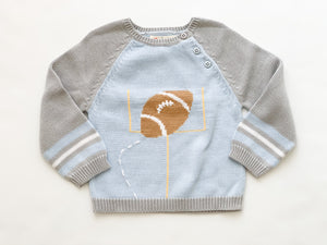 Football Knit Sweater- Toddler Boys