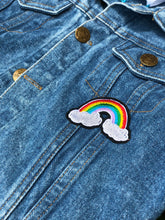 Load image into Gallery viewer, CUSTOM DENIM JACKET- Basic Rainbow Letters NAME ONLY