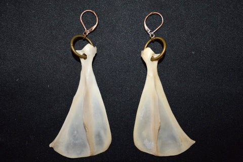 Raccoon Shoulder Earrings from Swamp Swag Creations