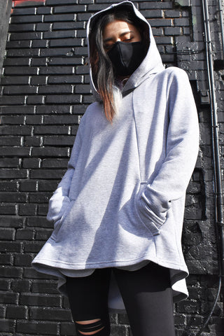 Backless Grey Hoodie