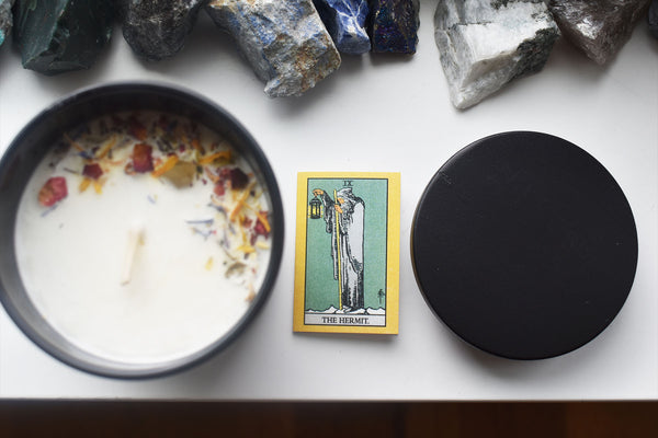 The Hermit - Tarot Candle