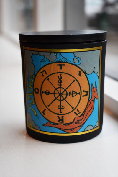 Wheel of Fortune - Tarot Candle - Ritual PNW