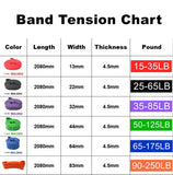 Activ Pro Resistance Bands Exercise Elastic Band Workout Rubber Loop Crossfit Strength Pilates Fitness Equipment Training Expander Unisex