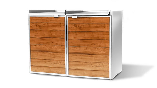 Urbin Double - Modern Outdoor Trash Storage Shed