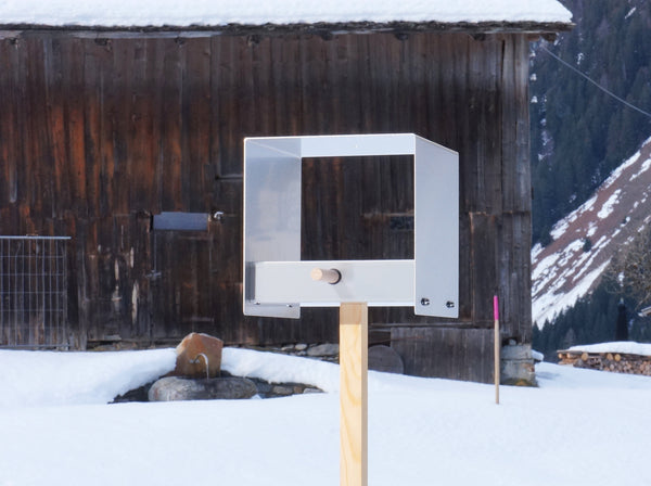 Tweet - Modern Bird Feeder - Outside in the snow