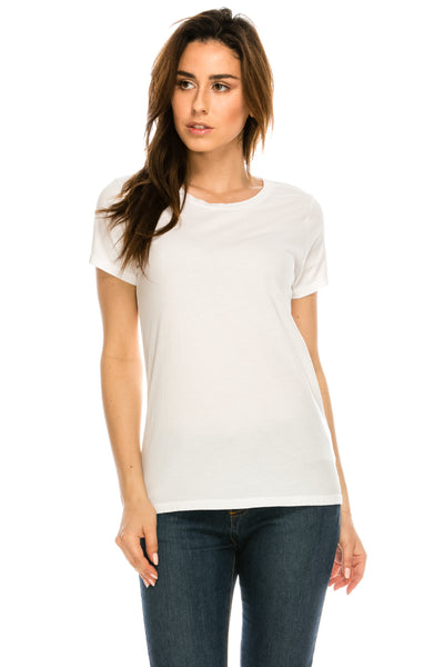 WOMENS S/S PIMA COTTON CREW NECK TEE - MolaInc