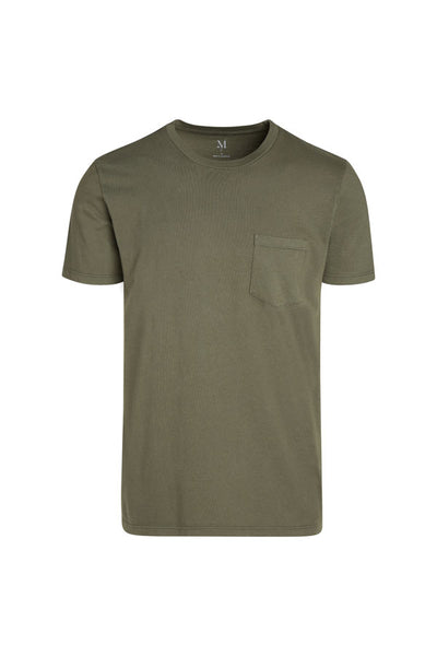 Mens S/S Combed Cotton Pocket Crew Tee - MolaInc