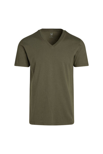 WS Mens S/S Combed Cotton V Neck Tee - MolaInc