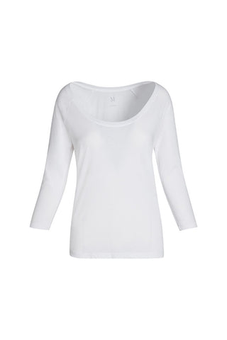 WS 3/4 Sleeve Womens Pima Cotton Scoop Neck - MolaInc