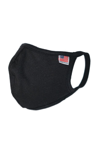 Black Reusable Double Layer Cotton Mask - MolaInc