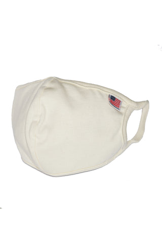 Cream Reusable Double Layer Cotton Mask - MolaInc