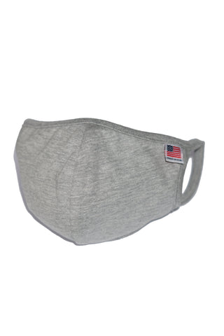 Heather Grey Reusable Double Layer Cotton Mask - MolaInc