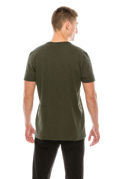 MENS S/S SLUB V NECK TEE - MolaInc
