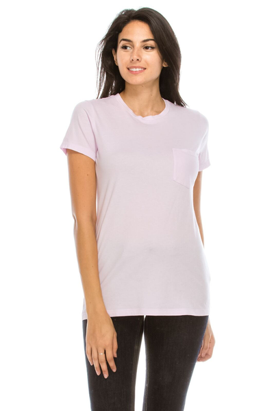 WS Womens S/S Combed Cotton Pocket Tee - MolaInc