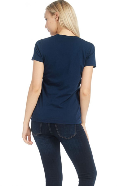 Womens S/S Combed Cotton Pocket Tee - MolaInc
