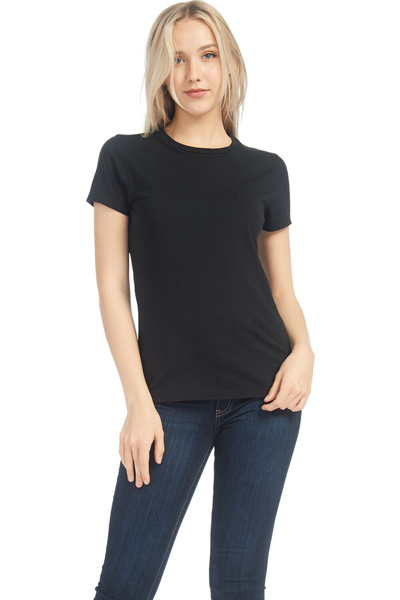 WS Womens S/S Combed Cotton Crew Neck Tee - MolaInc