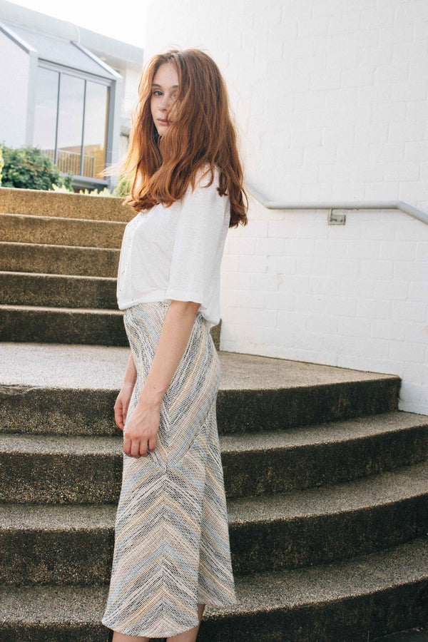 Gwen Skirt - Multi Stripe