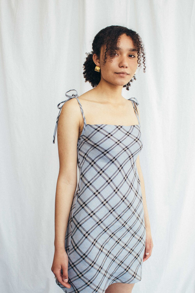 Sun dress - Blue Check