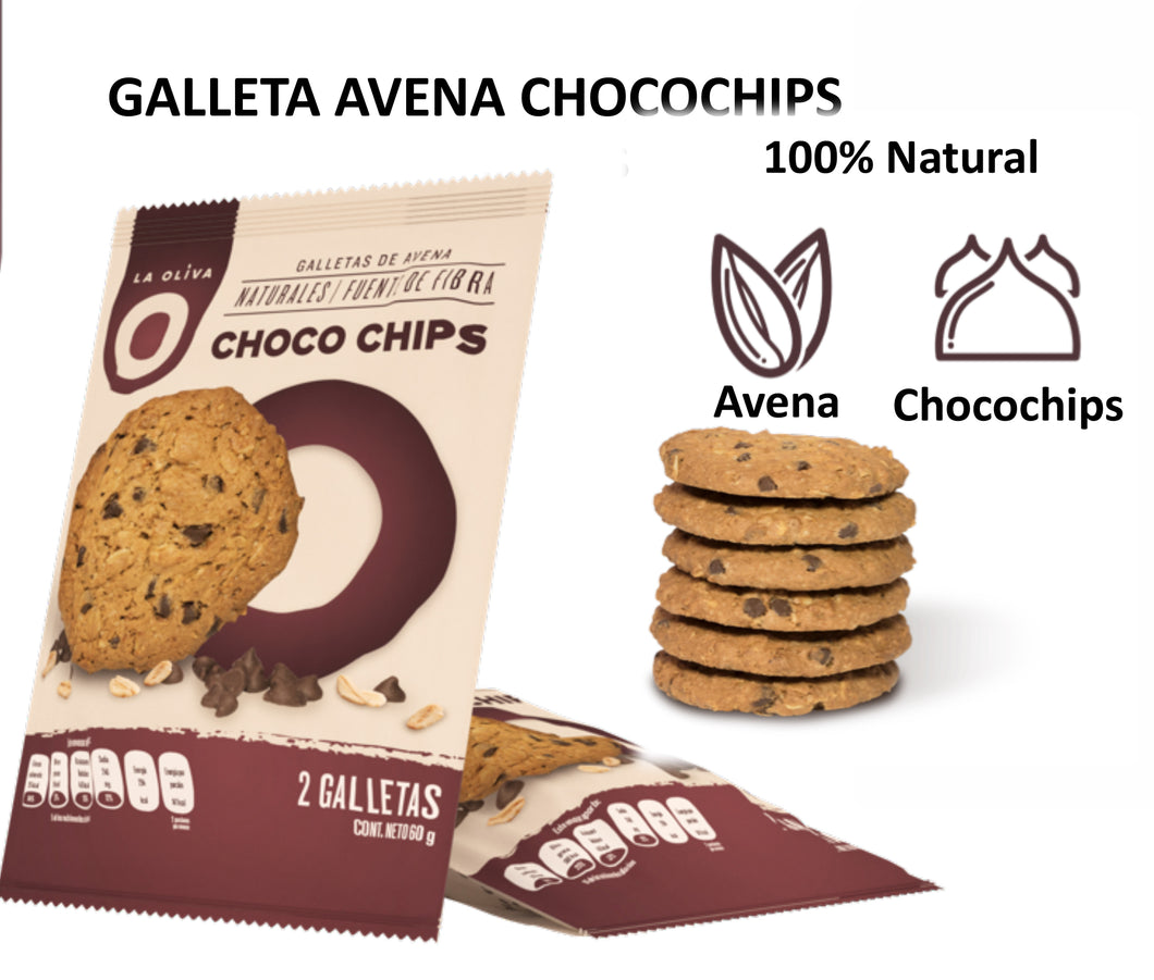 Galleta de avena y chocho chips