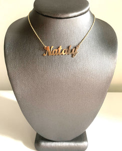 WHAT'S MY NAME NAMEPLATE NECKLACE