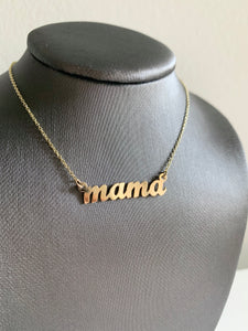 MAMA NAMEPLATE NECKLACE