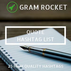 Quote Hashtag List
