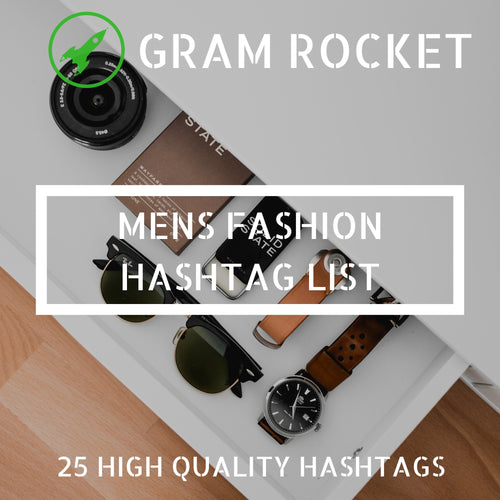 Mens Fashion Hashtag List