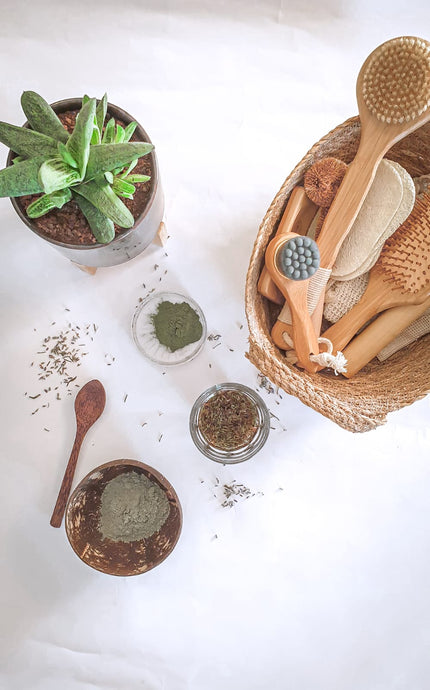 DIY Green Clay Mask with Lavender