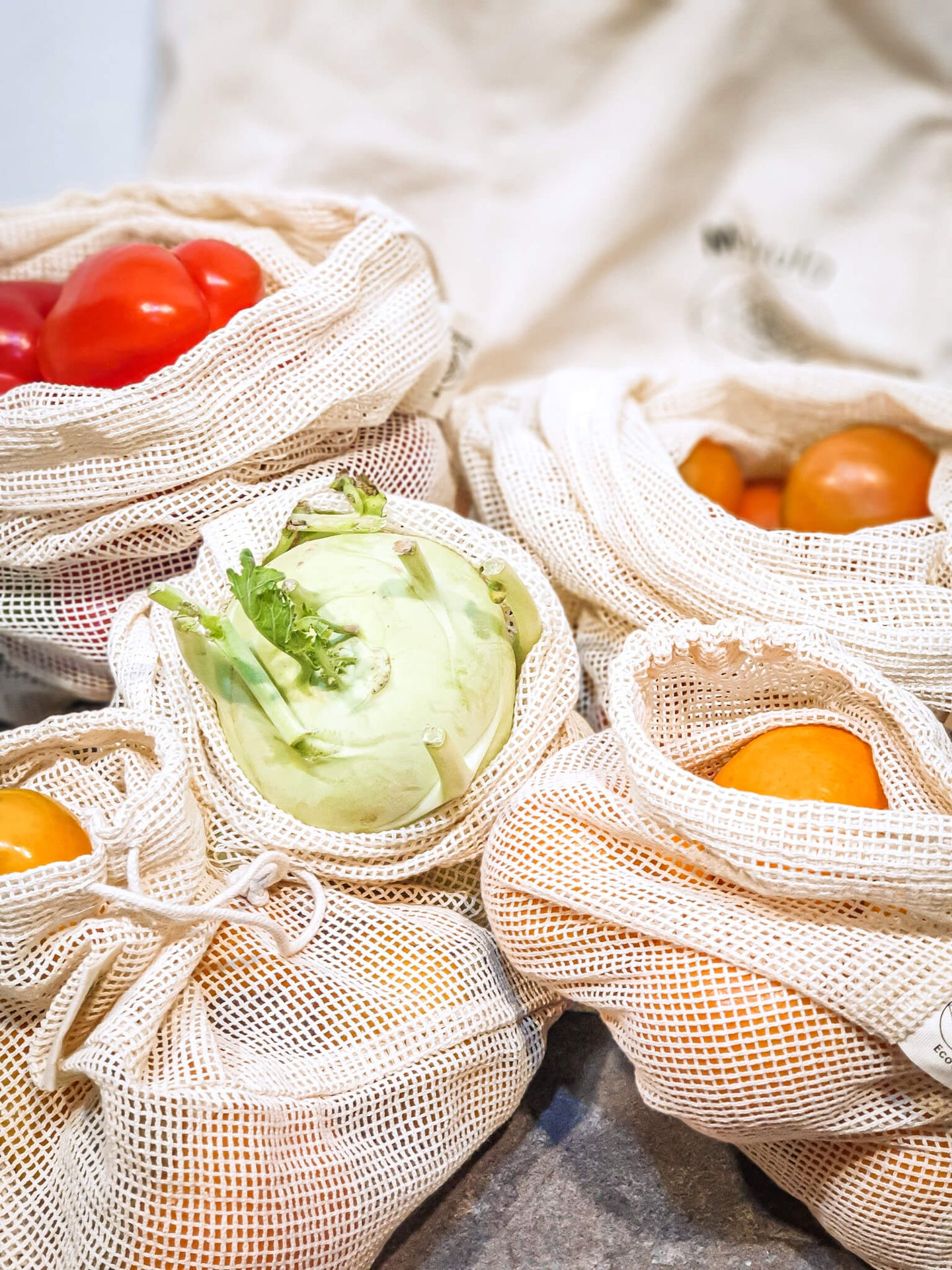 Mesh produce bags set of 5
