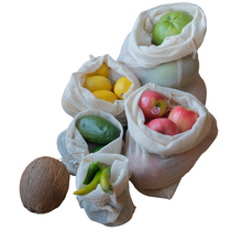 Load image into Gallery viewer, grocery bags  Mesh produce bags set of 5