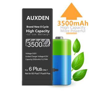 AUXDEN iPhone 6 Plus Battery 3500mAh High Capacity with Repair Tools