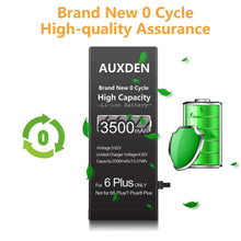 Load image into Gallery viewer, AUXDEN iPhone 6 Plus Battery 3500mAh High Capacity with Repair Tools