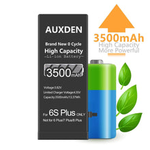 Load image into Gallery viewer, AUXDEN iPhone 6S  Plus Battery 3500mAh High Capacity with Repair Tools