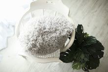 Load image into Gallery viewer, super soft, light gray, american made luxury fur pillow by Furmanity home
