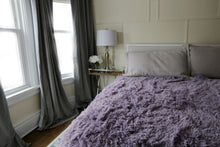 Load image into Gallery viewer, purple double sided faux fur girl's bedroom twin blanket or throw