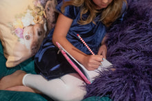 Load image into Gallery viewer, grape purple faux fur throw for little girls bedroom or playroom. warm and double sided fur. made in America/usa
