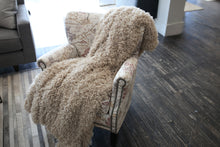 Load image into Gallery viewer, Tan Vegan Fur Kid to Adult Warm Blanket | Honey Kisses - Furmanity