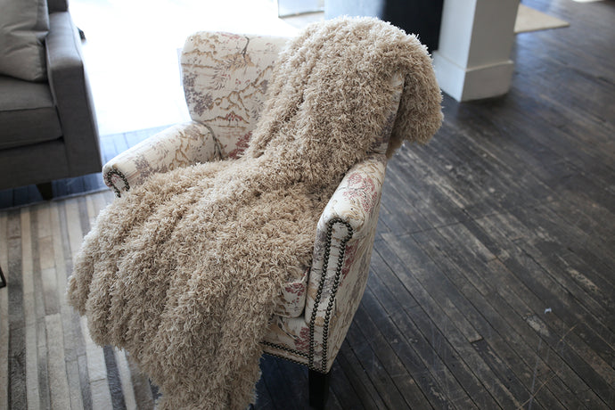 Tan Vegan Fur Kid to Adult Warm Blanket | Honey Kisses - Furmanity