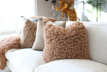 Load image into Gallery viewer, warm brown faux fur blanket in super soft texture for baby, kid or adult. Handmade in the USA by FuRmanity with Custom Photo Props fur